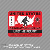 United States Sasquatch Hunting Permit Sticker Decal Vinyl Bigfoot 13igfo0T