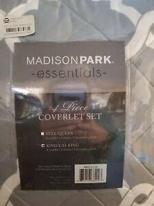 Madison Park Essentials 4 Pcs. Reversible Cal King Coverlet Set Grey