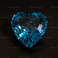 RARE Retired Swarovski Crystal SCS Event Piece Eternity Blue Heart 844184 Mint
