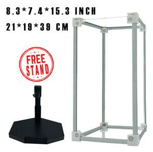 "1/6 Scale 12"" Figure Acrylic Box Display Case Toy Box Aluminum Pillar Beam"