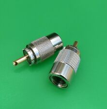 (10 PCS) UHF Male Twist-On Connector RG8U/RG8/RG213/RG214/LMR400