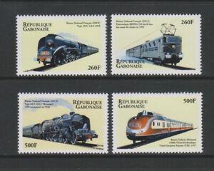 Gabon - 2000, French Electric Trains / Locomotives set - MNH