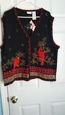 White Stag Women's Plus Embroidered Vest Cardinal Design Size 18W/20W W5575519