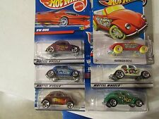 Hot Wheels Lot of (6) VW / Beetle Bug types! All Different