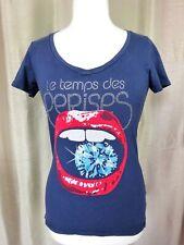 T-Shirt femme Le temps des cerises parfait état Taille XS FR34 US2 UK6 EUR32