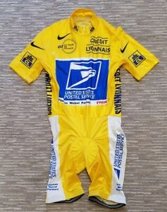 LANCE ARMSTRONG - 2002 Tour de France Race-Issued Yellow Leader's Skinsuit