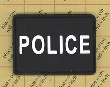PVC POLICE BLACK 3D RUBBER COPS ISAF US CANADA URBAN UNIT PATCH MORALE COP