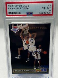 1992-93 Upper Deck Shaquille O'Neal RC #1 PSA 6 Rookie Card - Magic Shaq