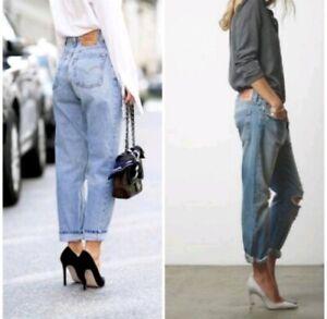 VTG Levi's Womens Mens 560 Light Wash Zipper Fly High Rise Mom Jeans 36 x 32