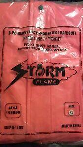Storm Flame 3 pc Heavy Duty Rainsuit Fire Retardant Rainsuit XL rain suit 94409