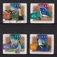 AUSTRALIA 1997 WETLAND BIRDS (SELF ADHESIVE) COMP. SET OF 4 STAMPS IN FINE USED
