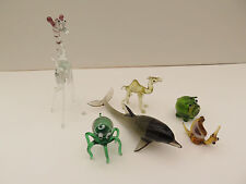6 miniature glass animals