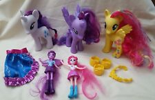 MY LITTLE PONY Lot of 3 Ponie & Accessories & 2 Equestria Girl Dolls  Hasbro