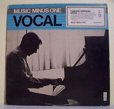 33T John WUSTMAN Piano LP VOCAL FAMOUS SOPRANO ARIAS - MUSIC MINUS ONE 7015 RARE