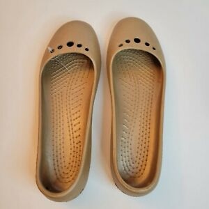 Crocs Women's Prima Ballet Flats size 11 Tan