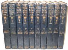 Works EDGAR ALLAN POE! Horror COMPLETE 1904! raven faux leather ANTIQUARIAN RARE