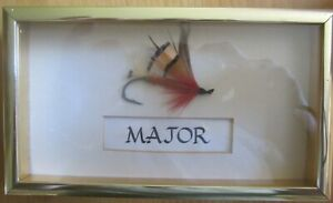 """Large Framed Fly Fishing Hook """"Major"""" Ideal for door  or wall"""