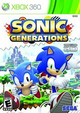Sonic Generations [Xbox 360, 2D & 3D Platform Action Video Game] NEW