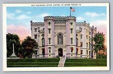 Baton Rouge Louisiana LA Old State Capitol Mark Twain Castle Postcard 1930-45
