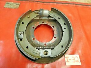 Triumph TR6,TR250,TR4A IRS,  Left Rear Brake Assembly & Backing Plate, Original,