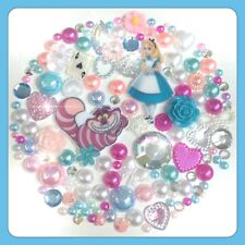 Disney Alice In Wonderland Cheshire Cat Theme Gems & Pearls flatbacks Crafts #1