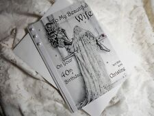 PERSONALISED HANDMADE LUXURY WIFE / DAUGHTER  BIRTHDAY CARD, 30th, 40th, 50th.