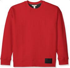 Calvin Klein Men' Oversized Pullover Sweatshirt Red Sweater Long Sleeves Top XXL