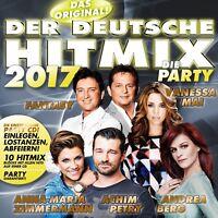 DER DEUTSCHE HITMIX-DIE PARTY 2017 (ANDREA BERG/WOLFGANG PETRY/NIK P./+) CD NEU