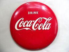 """Old 12"""" Original Coke Sign 1950s Coca Cola Vintage Round Drink Coca Cola Sign"""