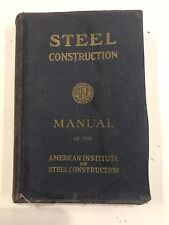 Steel Construction Manual of the American Institute of Steel Construction Book