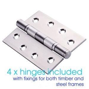 4 x STAINLESS STEEL BB Door Hinges 304 grade 100 x 75mm HEAVY DUTY