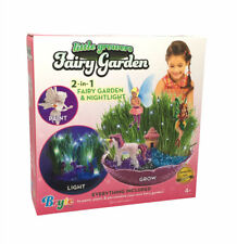 Little Growers Fairy Garden Craft Kit with Enchanted Unicorn and Light-Up