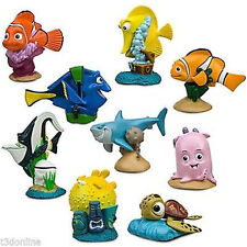 9 x DISNEY PIXAR FINDING NEMO ACTION FIGURE FIGURINES TOY SET CAKE TOPPER DECOR
