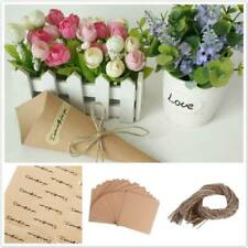Brown Kraft Wrapping Parcel Paper Wedding Bouquet Packing Candy Chocolate Bags