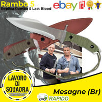 Coltello RAMBO 5 Last Blood Survival Bushcraft militare Caccia Pesca Giocattolo