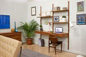 DELIVERY £70 Mid Century Teak Modular Wall System Shelving Danish Desk