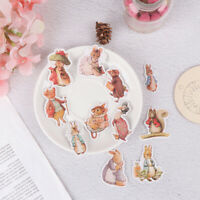 11Pcs Stickers DIY Scrapbooking Cartoon Peter Rabbit Album Sticker Pack. ZL