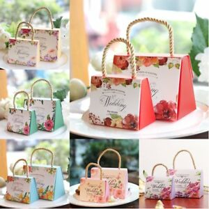 50x Wedding Birthday Party Decor Sweet Cake Candy Bags Favor Gift Boxes