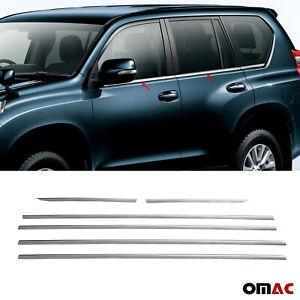 Fits Toyota Land Cruiser Prado 2010-2021 Chrome Window Frame Trim S.Steel 6 Pcs