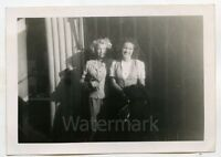 1940s Vintage snapshot  photo Two ladies in front of store  Los Angeles CA