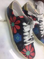 Saint Laurent YSL Womens  Flower Floral Sneakers 35.5