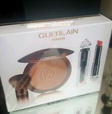 Guerlain Terracotta Sun Kissed Glow Kit with Bronzer with Brush & Lipstick BNIB