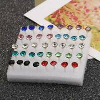 20 Pairs/Set Fashion Crystal Cute Ear Stud Earrings Womens Jewelry Xmas Gift