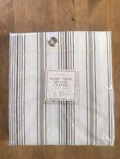 """Restoration Hardware Dobby stripe shower curtain 72"""" x 72"""" 100% cotton"""