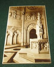 THE BAPTESTRY IN THE CATHEDRAL OF ST JOHN THE DIVINE NEW YORK POSTCARD
