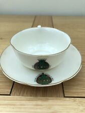 W H Goss Melon Cup and Saucer - Crest for Abersoch