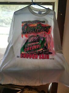 2004 JOHN FORCE NHRA Enough Said! T-Shirt XXL Gildan Two Sided Championship