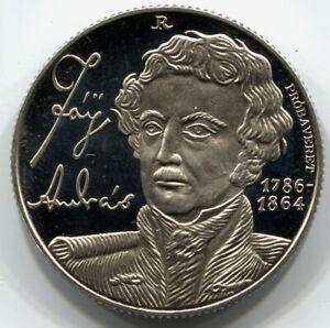 RARE Hungary 100 Forint 1990 Proof András Fáy - PRÓBAVERET, PATTERN, ESSAY