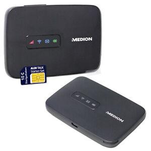 Medion LTE 4G Hotspot WLAN WiFi Router 150MBit/s inkl. Starter-Set Simlock-frei