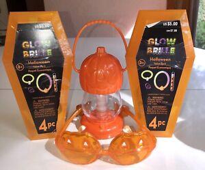 Halloween Lantern, Blinking Glasses, X2 Coffin Glow Set Necklace Bracelet Ring